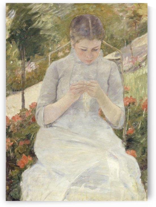 Cassatt - Girl in the Garden by Cassatt