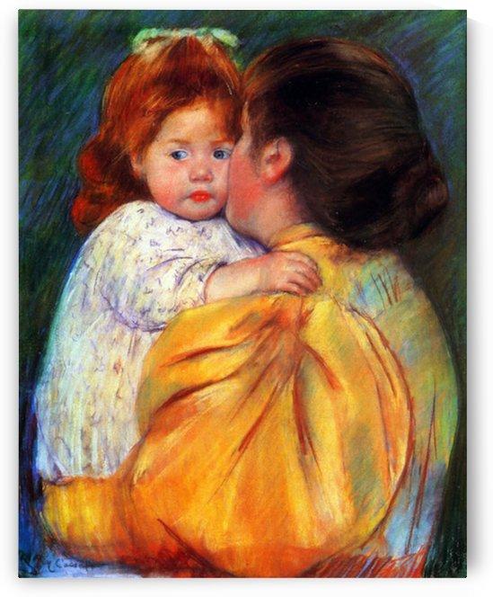Cassatt Mary - Maternal Kiss 1896 by Cassatt