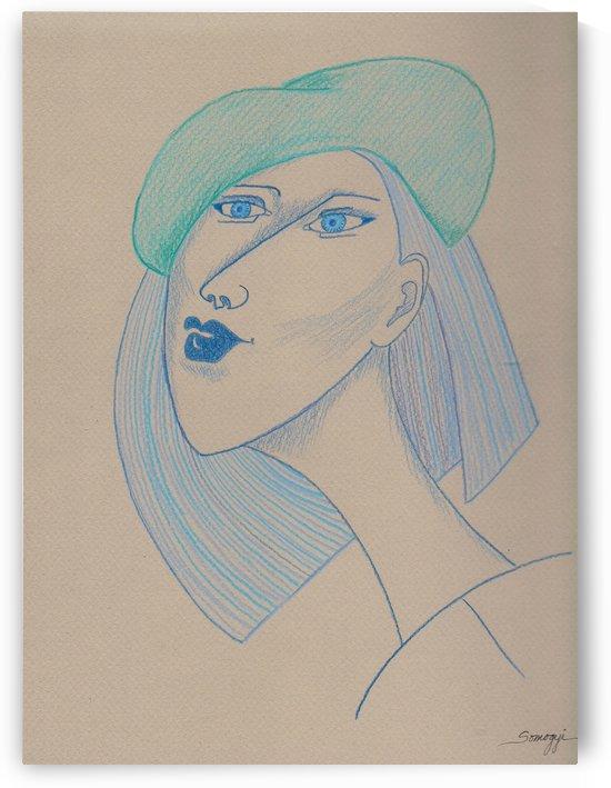 Girl in Blue Beret by Jayne Somogy