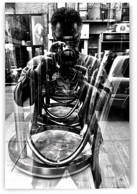 Stacked Chairs ... NYC by Fred J Bivetto