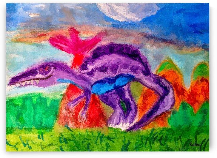 Dinosaur drawn by 5 year old by Aurelia Schanzenbacher Sisters Fine Arts