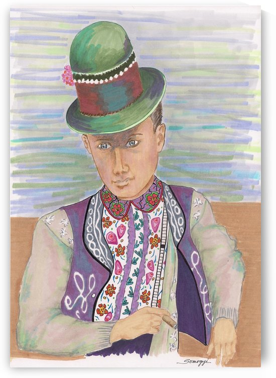 Hungarian Dandy with Cigar 1930 by Jayne Somogy