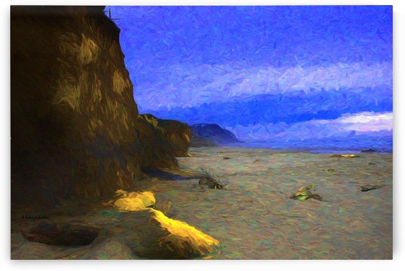 Yachats Beach Painting by Aurelia Schanzenbacher Sisters Fine Arts