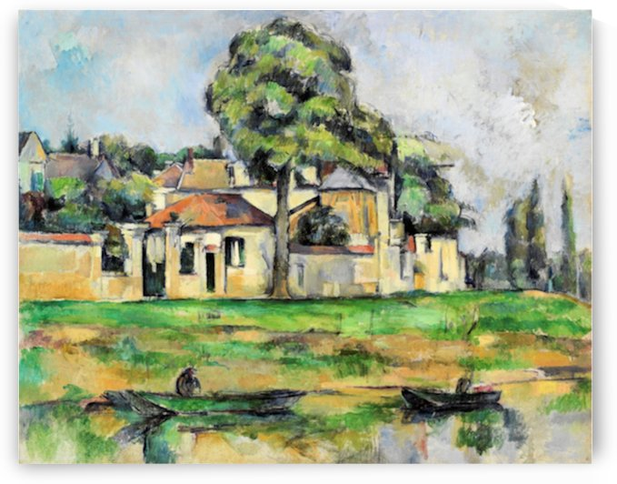 Cezanne - Banks of the Marne by Cezanne