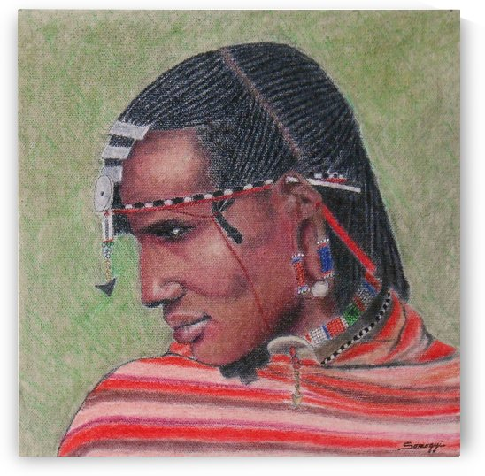 Maasai Warrior II by Jayne Somogy