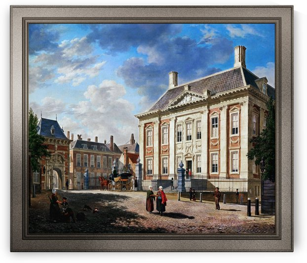 The Mauritshuis in The Hague by Bartholomeus van Hove by xzendor7