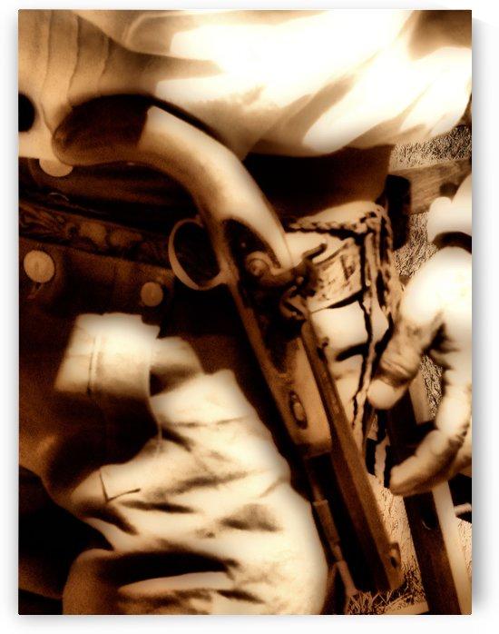 U.S. Civil War Gun and Holster  by Aurelia Schanzenbacher Sisters Fine Arts