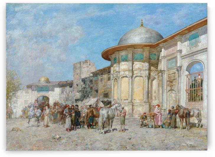 Horse market, Syria by Alberto Pasini
