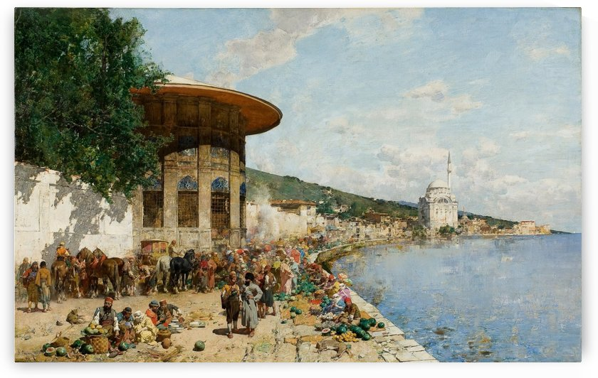 Market Day in Constantinople by Alberto Pasini