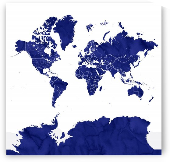 navy blue world map with outlined countries by blursbyai