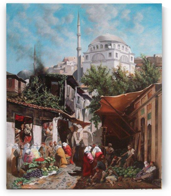 Mercato orientale by Alberto Pasini