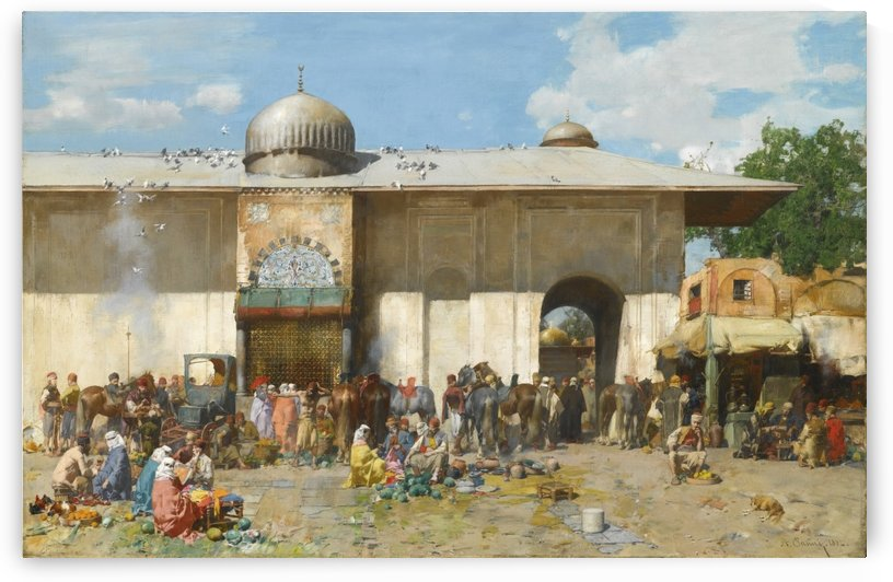 Fruit market by Alberto Pasini