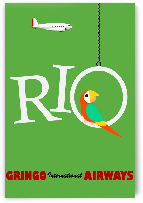Vintage Travel - Rio by Culturio