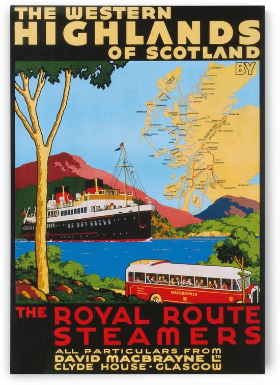 Vintage Travel - Scotland Highlands by Culturio