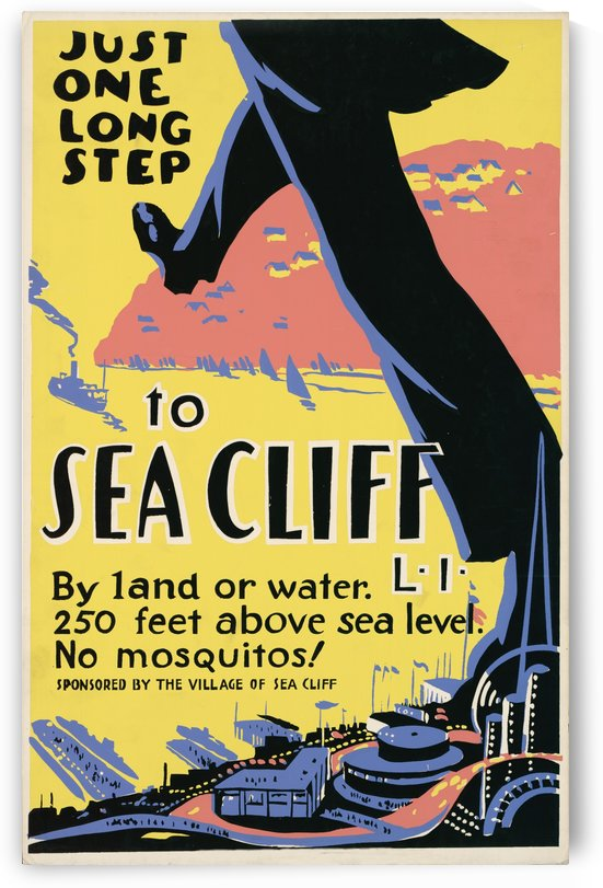 Vintage Travel - Sea Cliff by Culturio