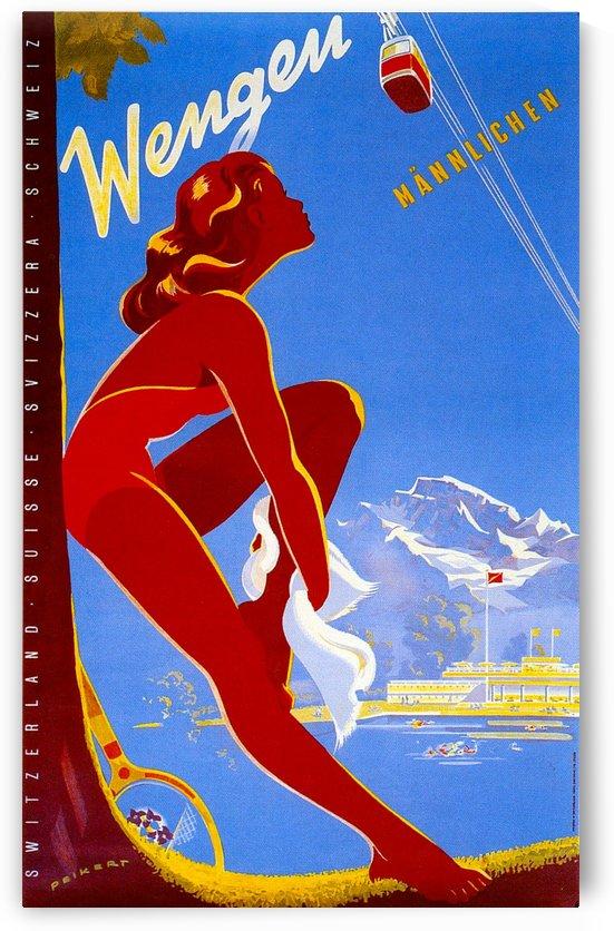 Vintage Travel - Wengen by Culturio