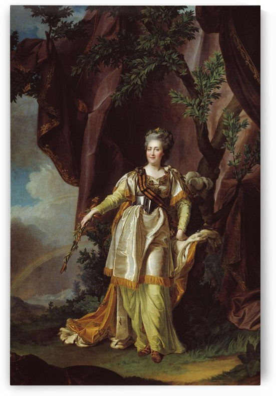 Portrait of Greate russian empress Catherine II by Dmitry Levitzky
