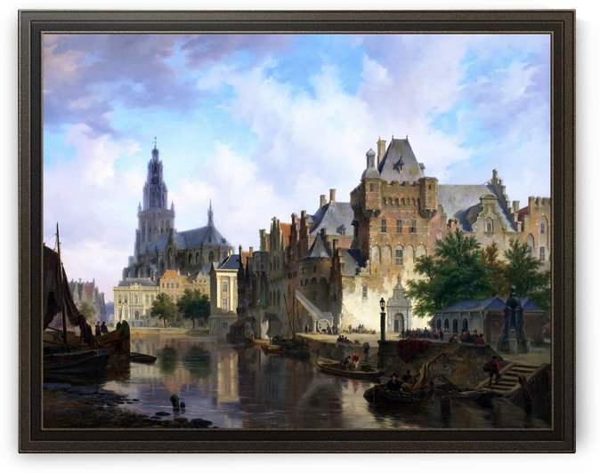 Fantasy Cityscape With The Mauritshuis by Bartholomeus van Hove by xzendor7
