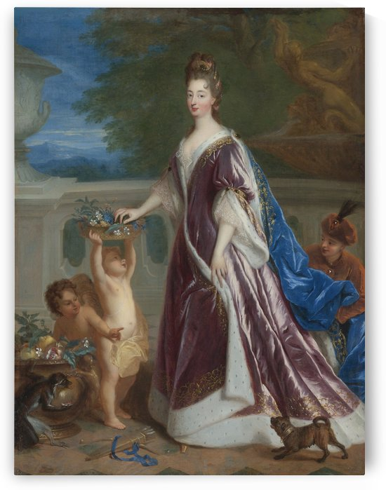Portrait of Elisabeth - Charlotte de Baviere by Dmitry Levitzky
