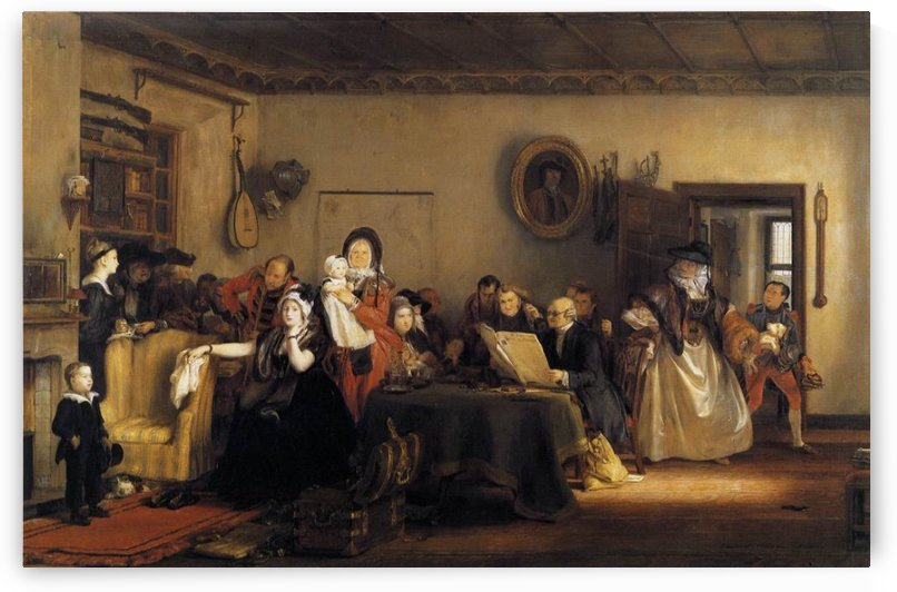 Reading the will by David Wilkie