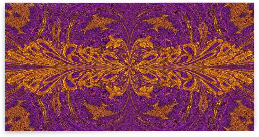 Golden Butterfly in Purple by Sherrie Larch