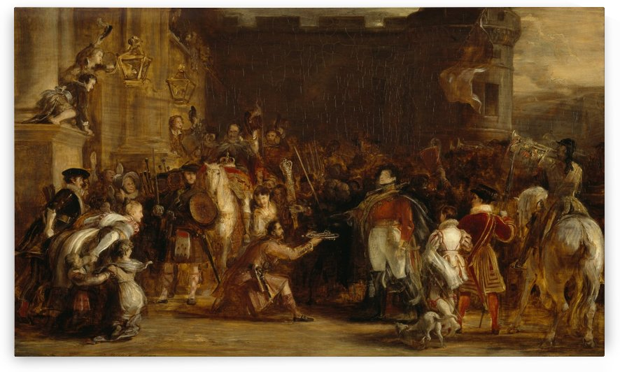 The Entrance of George IV at the Palace of Holyroodhouse by David Wilkie