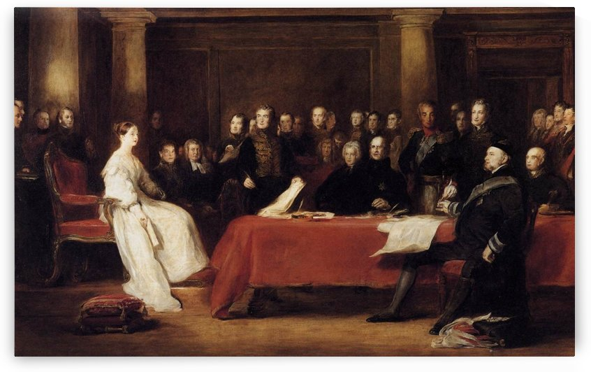 The First Council of Queen Victoria by David Wilkie