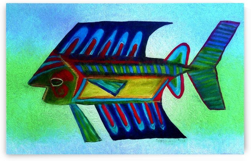 You Cant Eat a Blue Fish by Aurelia Schanzenbacher Sisters Fine Arts