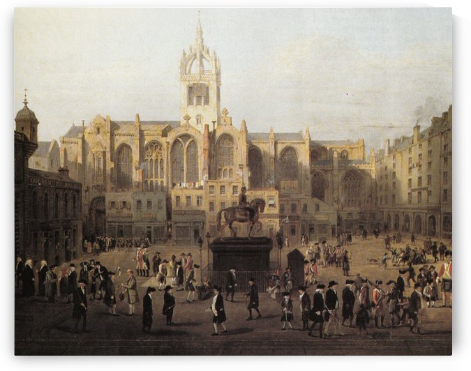 The parliament close and public characters by David Wilkie