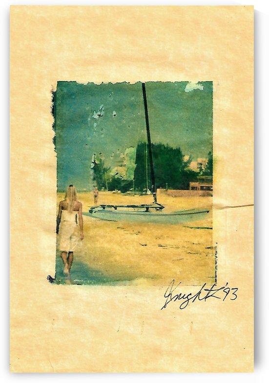 beach walker 5x7 by Jon Knight Loruenser