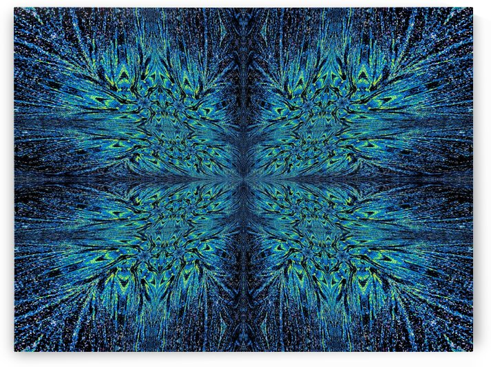 Blue Aura Butterfly by Sherrie Larch