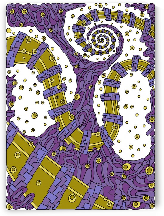 Wandering Abstract Line Art 02: Purple by Dream Ripple