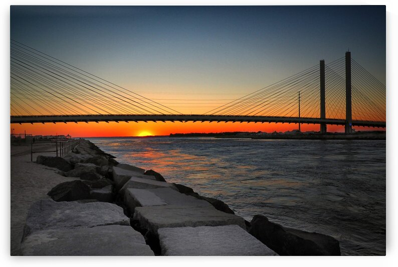 Indian River Inlet Bridge Sunset 9140100 by Bill Swartwout Photography