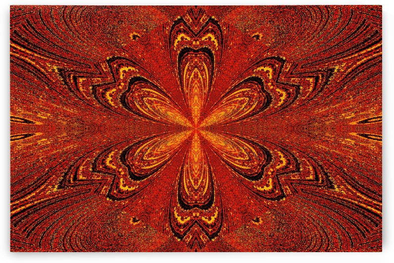 Gold Orange Star Flower by Sherrie Larch