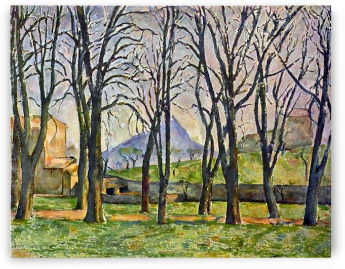 Chestnut Trees in Jas de Bouffan by Cezanne by Cezanne
