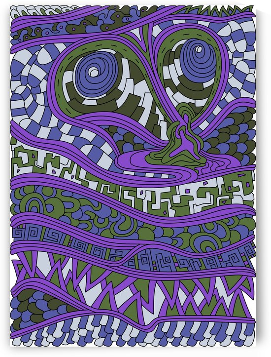 Wandering Abstract Line Art 03: Purple by Dream Ripple