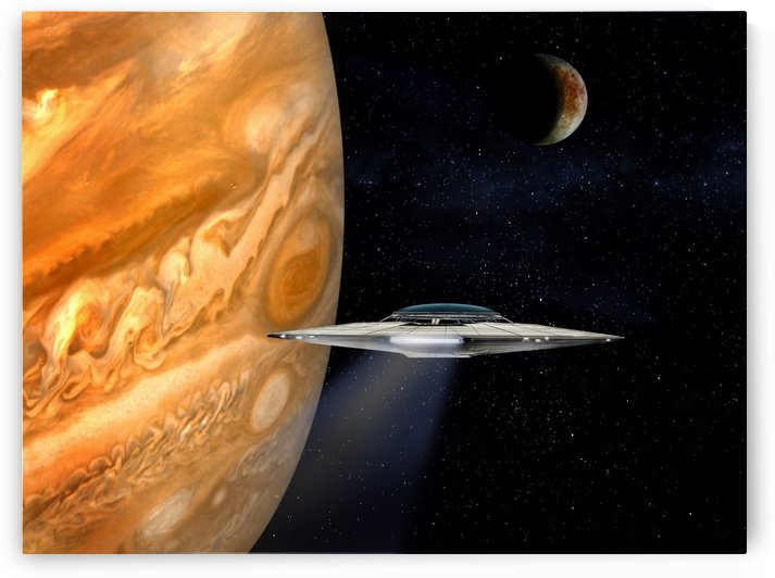Jupiter Fly-by by Bill Wright