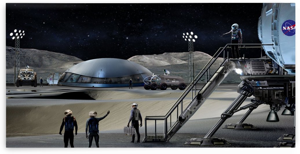 Moon Base 2 by Bill Wright