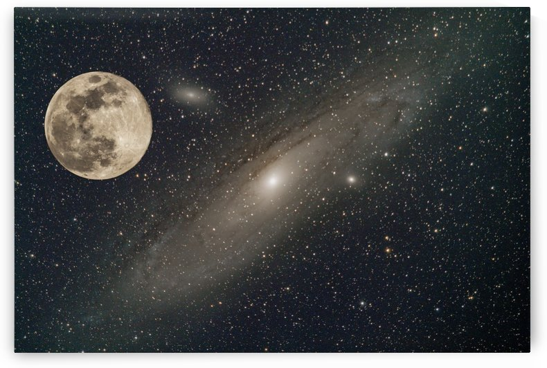 Andromeda with the Moon by John Freeman