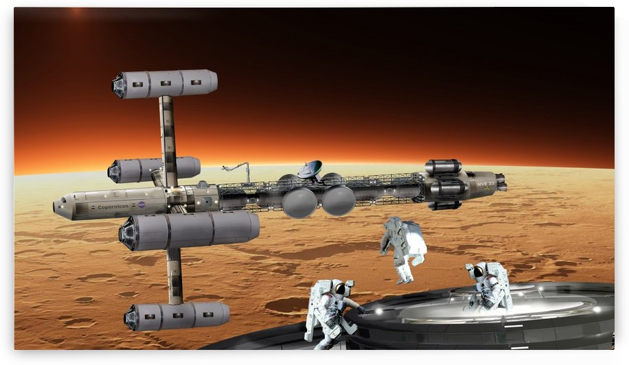Copernicus at Mars by Bill Wright