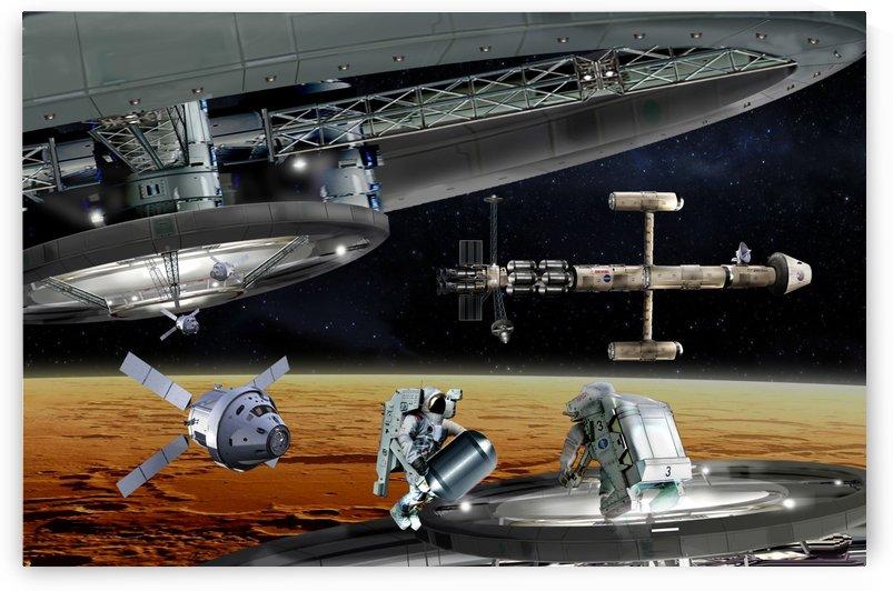 Resupply Operation Mars Orbit by Bill Wright