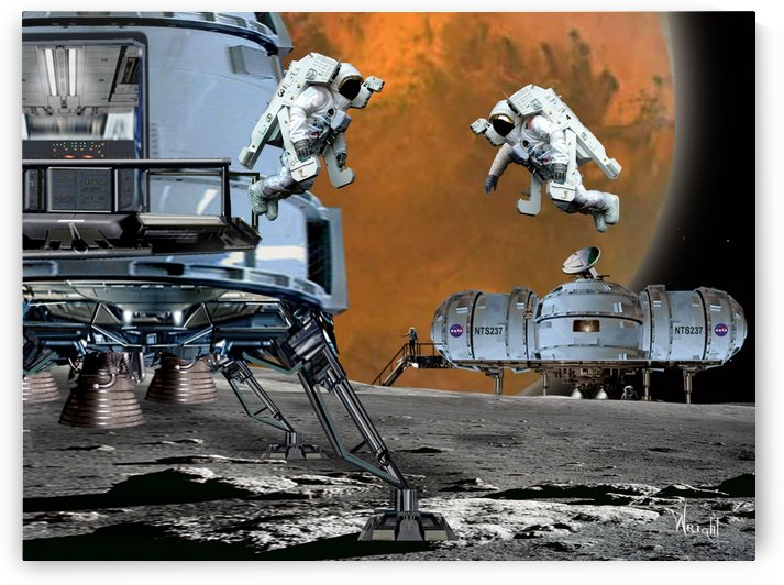 Phobos Station by Bill Wright