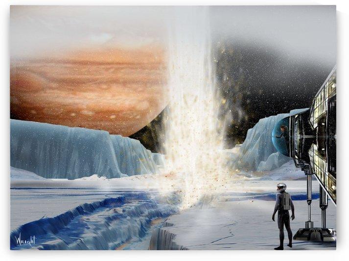 Geyser on Europa by Bill Wright