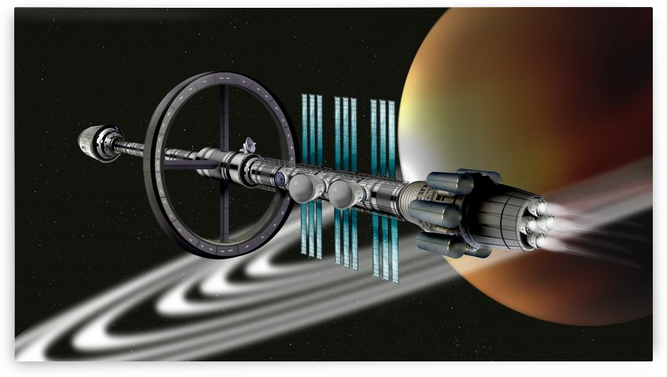 Starship Radial Alliance by Bill Wright