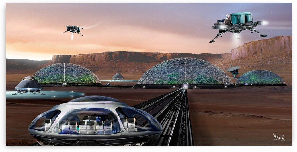 Alpha Colony on Mars by Bill Wright