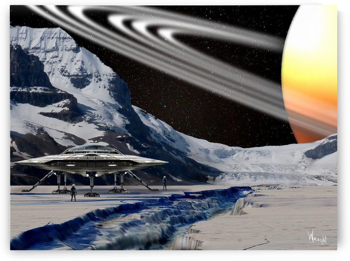 View From Iapetus by Bill Wright