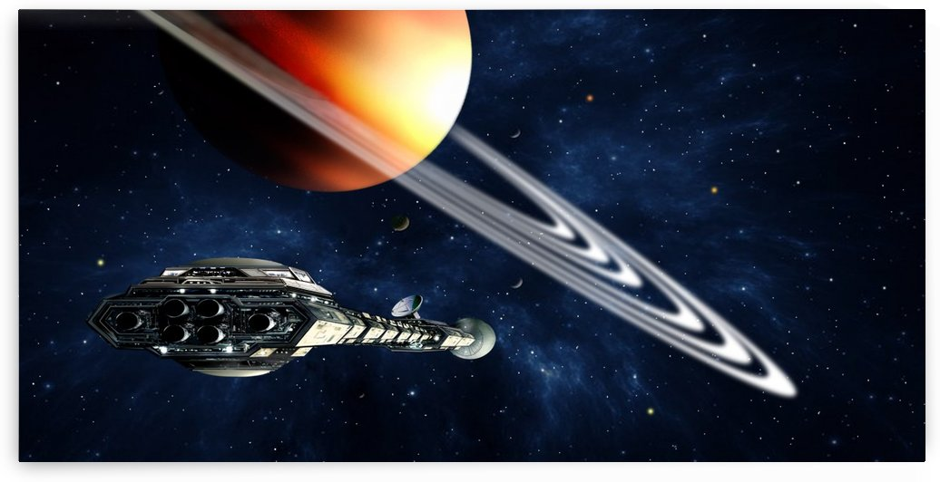 Saturn Fly-By by Bill Wright