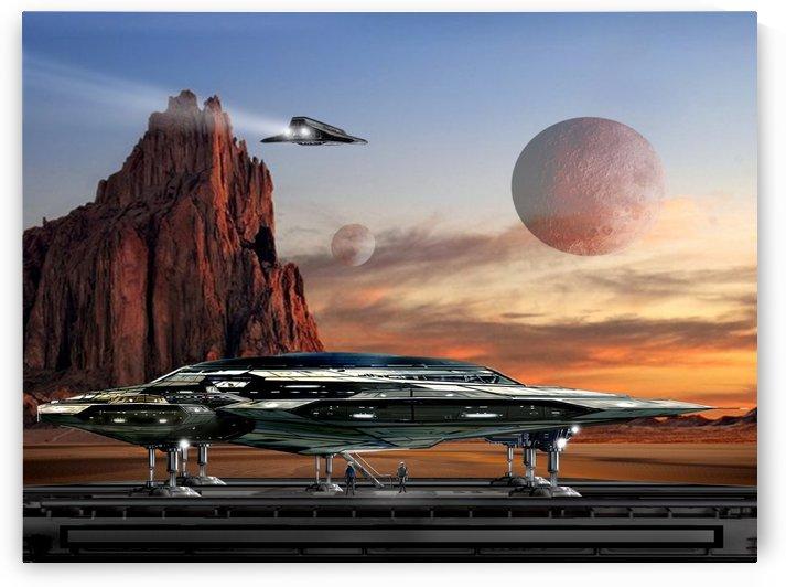 Starship Atra Vega by Bill Wright