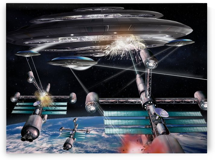 UFO Attack by Bill Wright