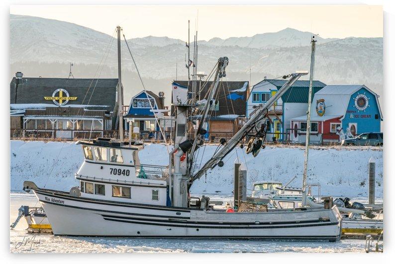 Homer Fishing Boat in Winter 08816 by J Marsh
